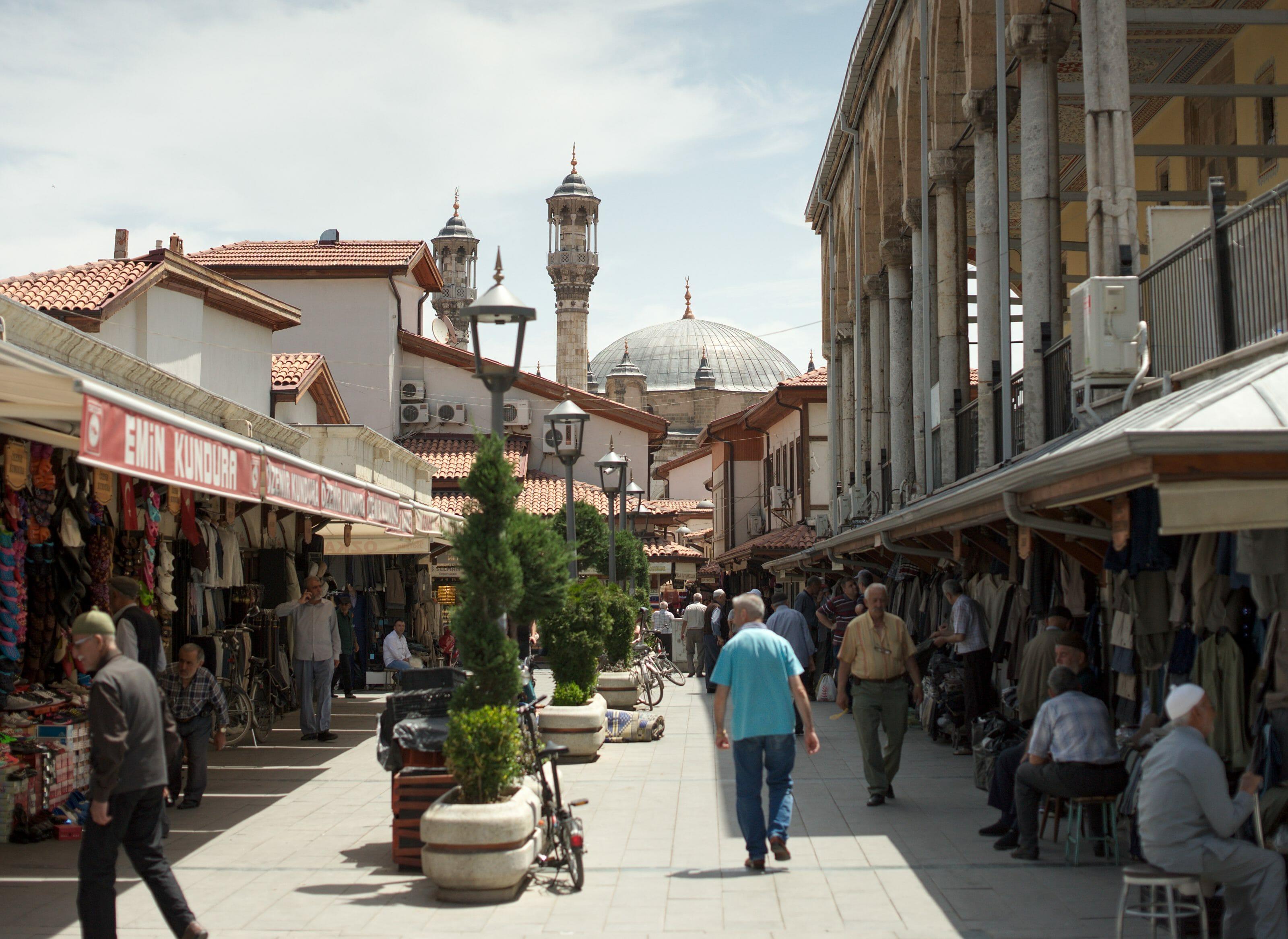 marché et bazzar de Konya