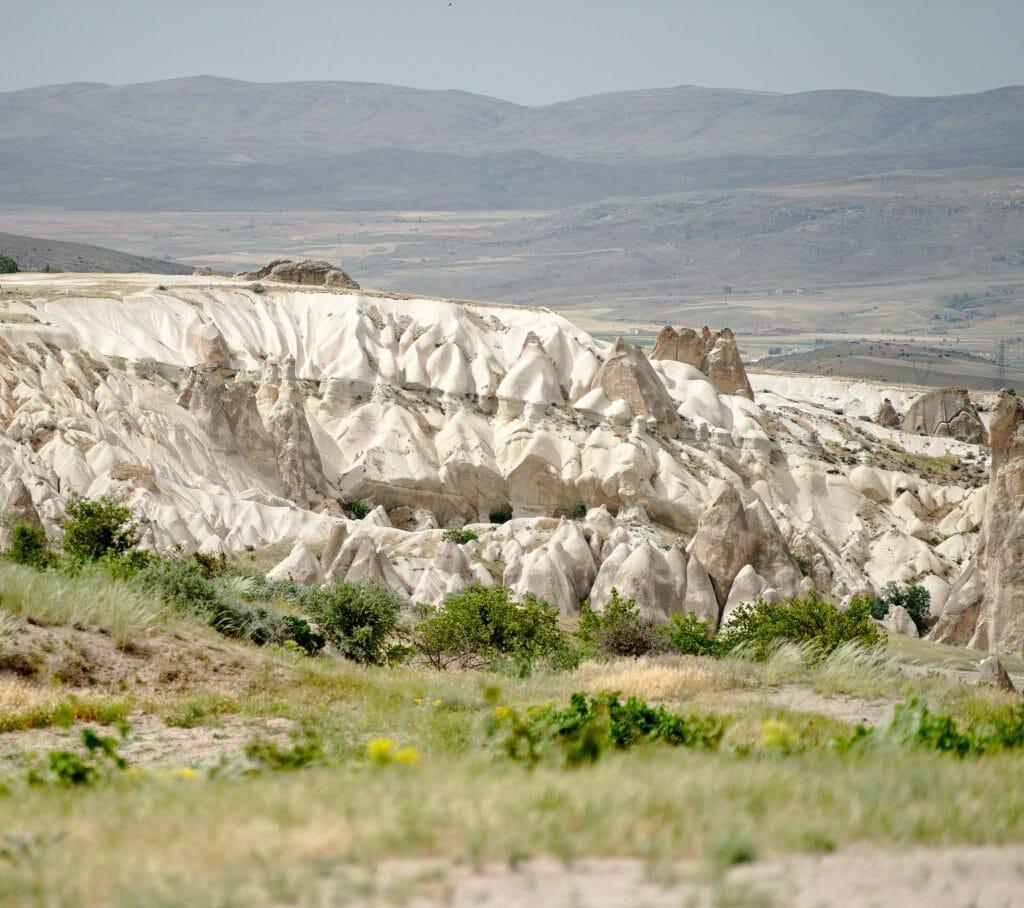 forme des rochers en Cappadoce