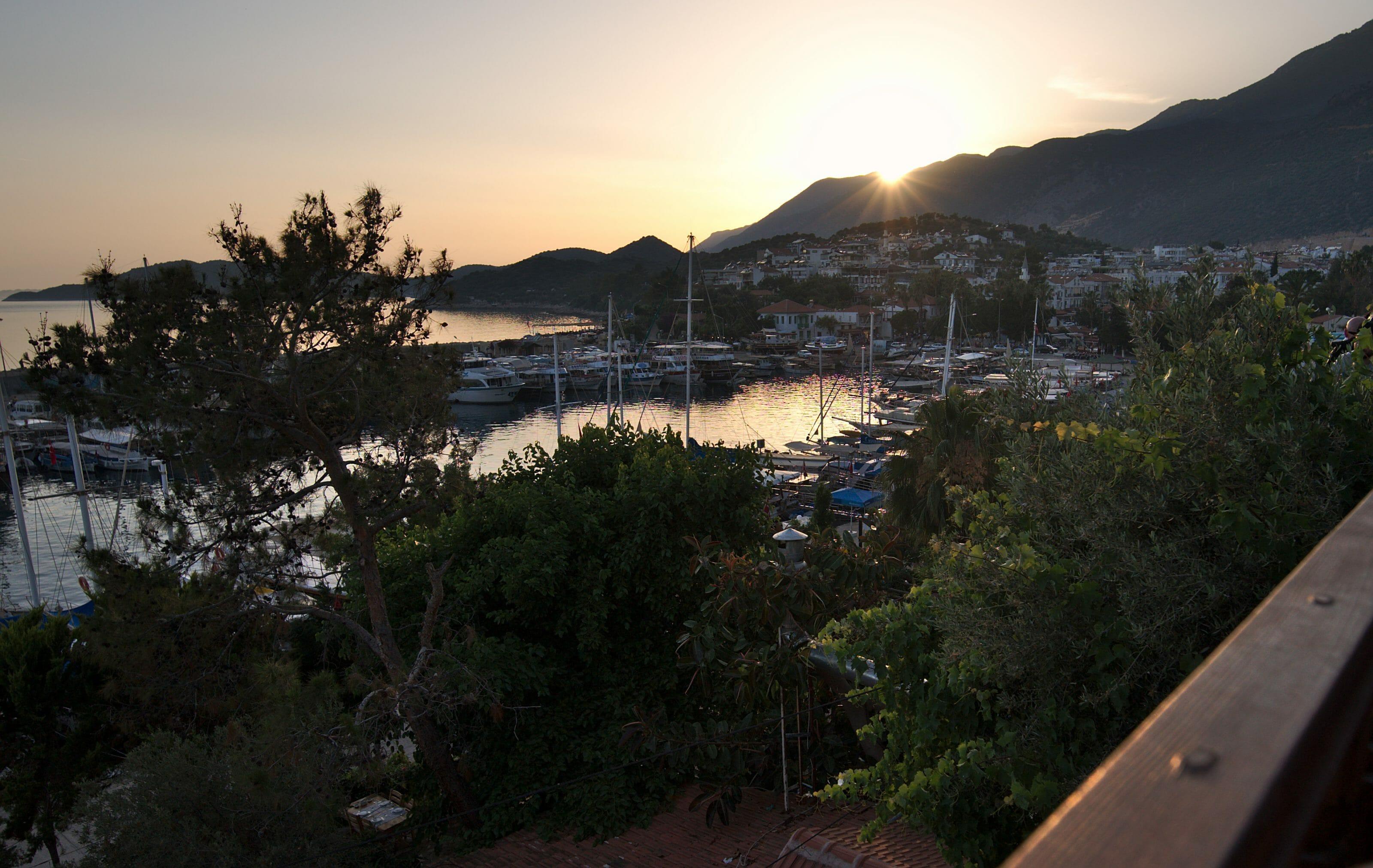 kas coucher de soleil