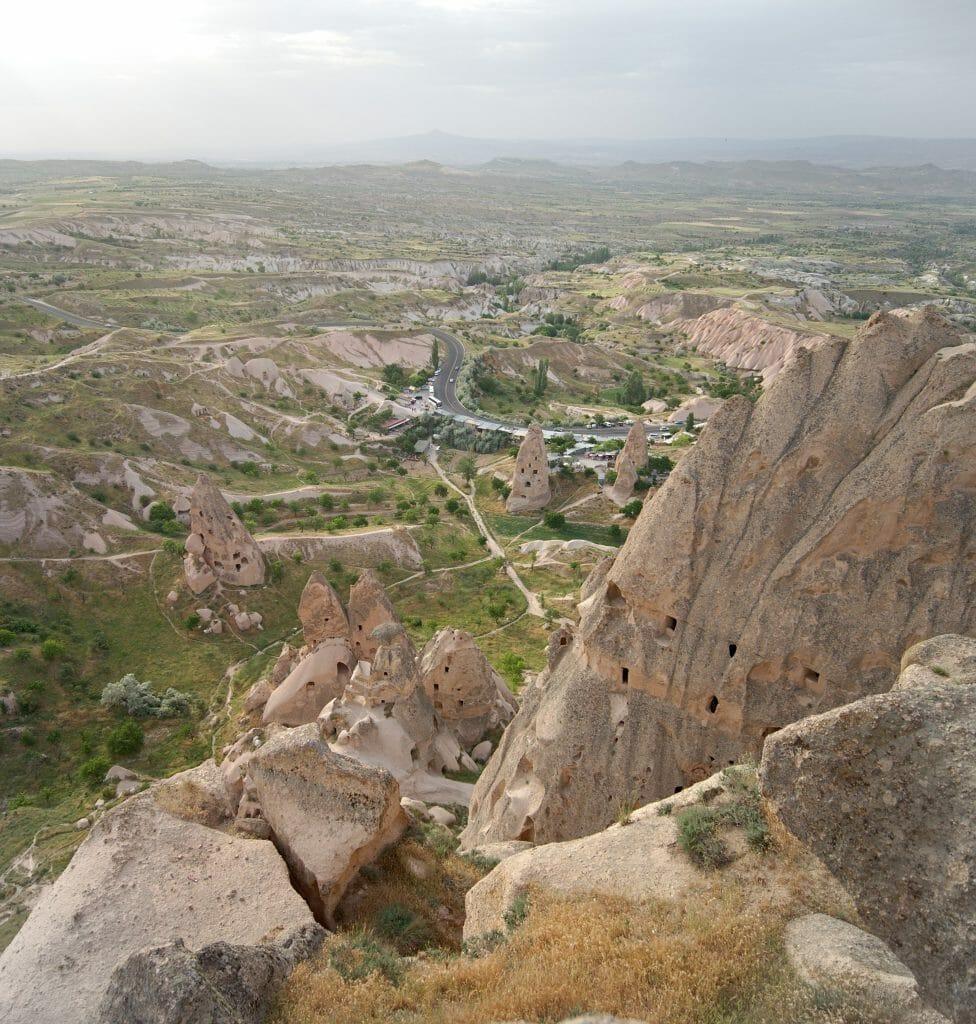 vue derrière Uchisar