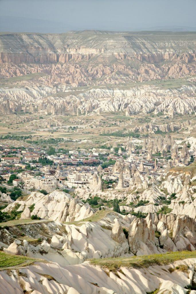 vue sur Goreme depuis Uchisar