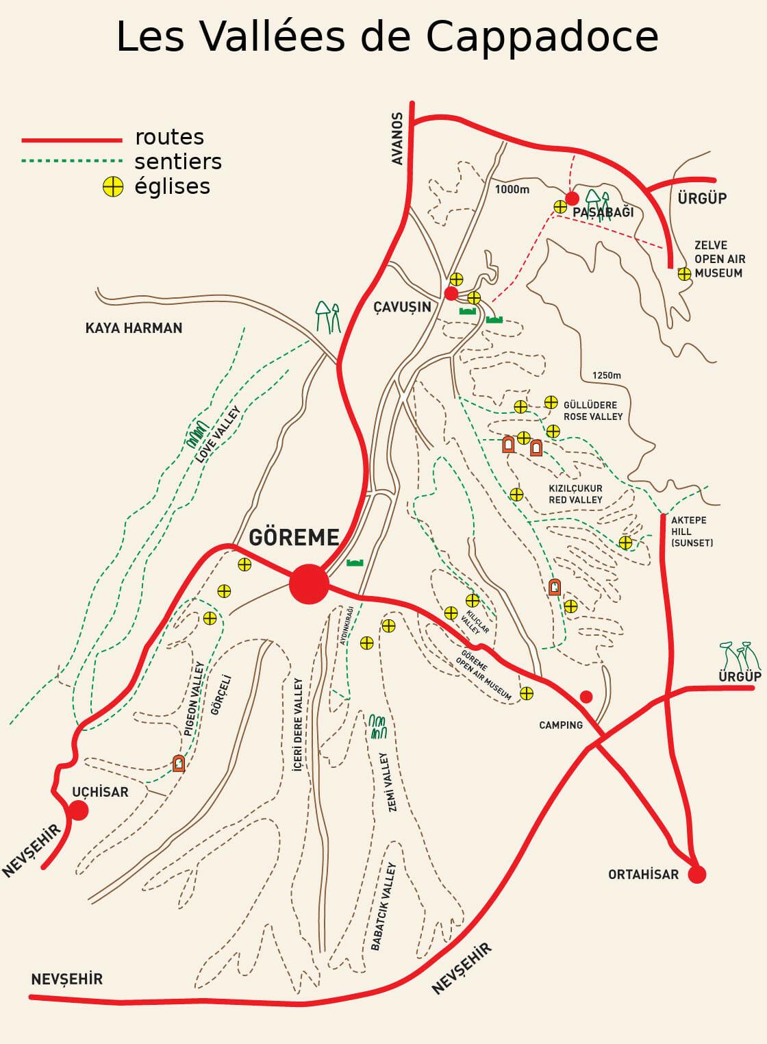carte de Cappadoce