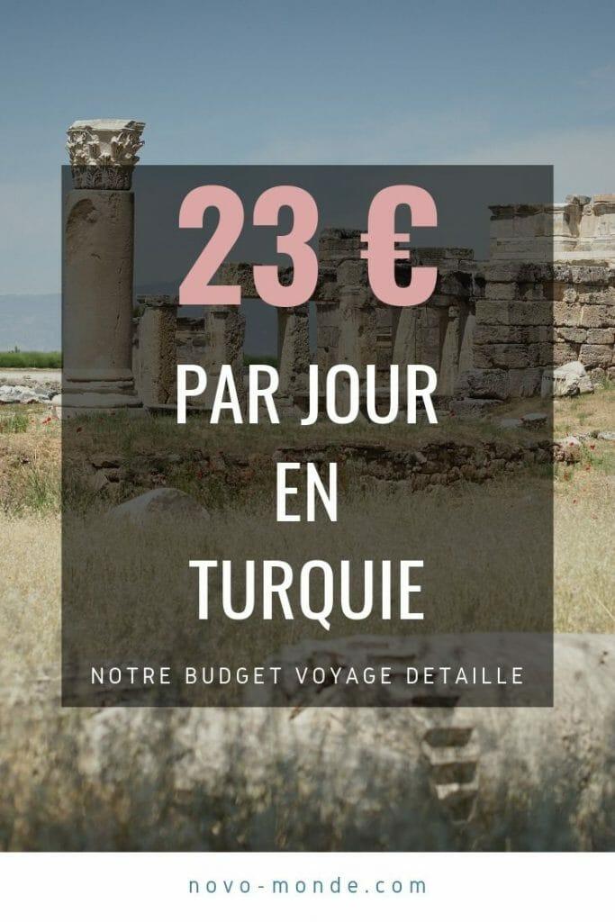 budget voyage turquie