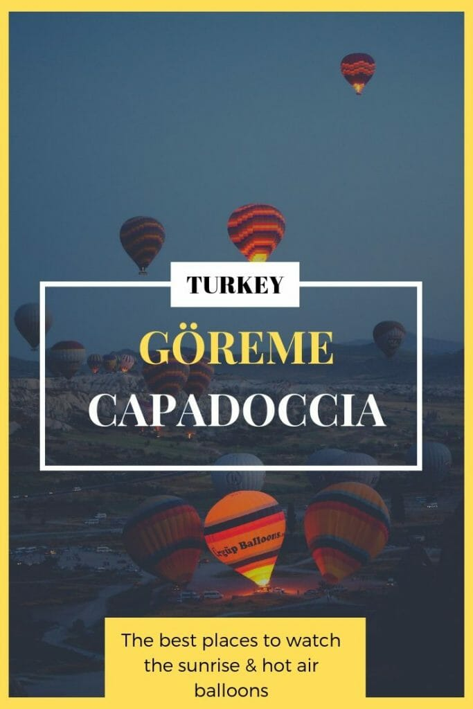 where to watch hot air balloon in goreme