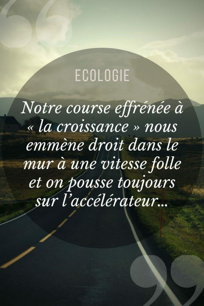 réflexion écologie