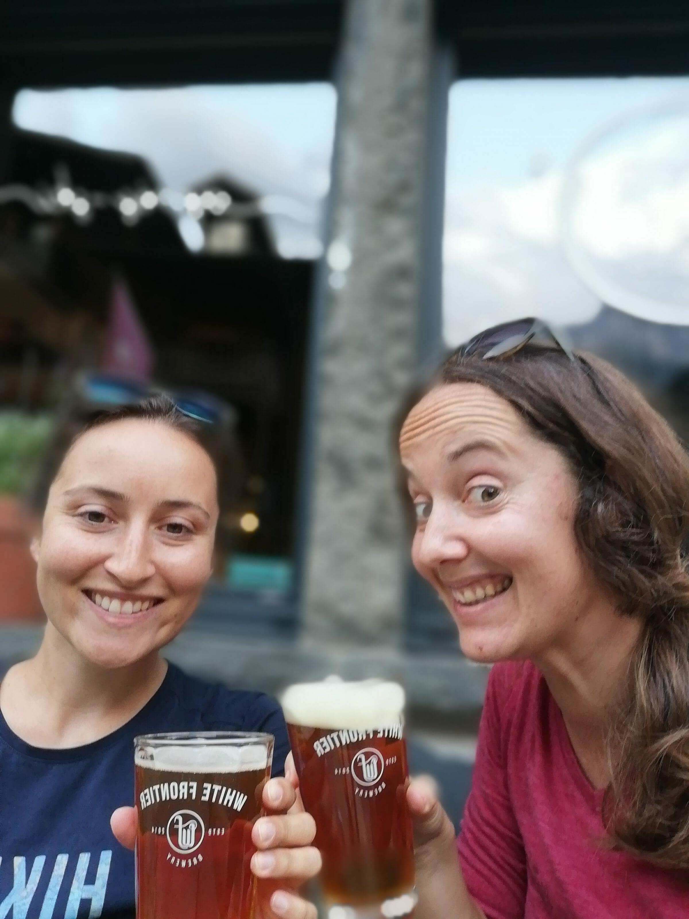 bière de fin de randonnée