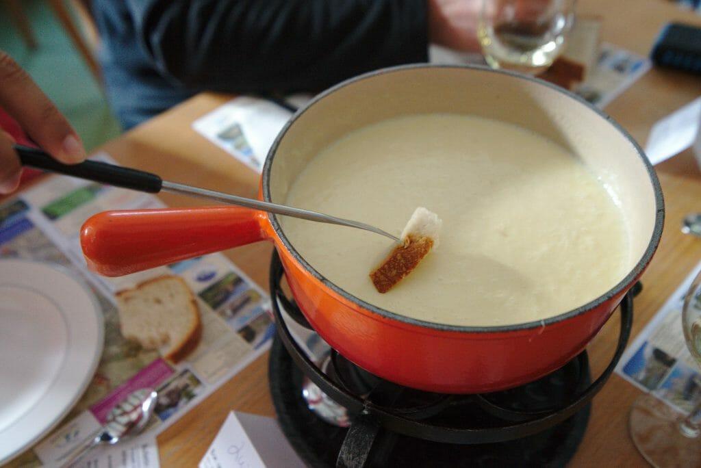 une fondue suisse
