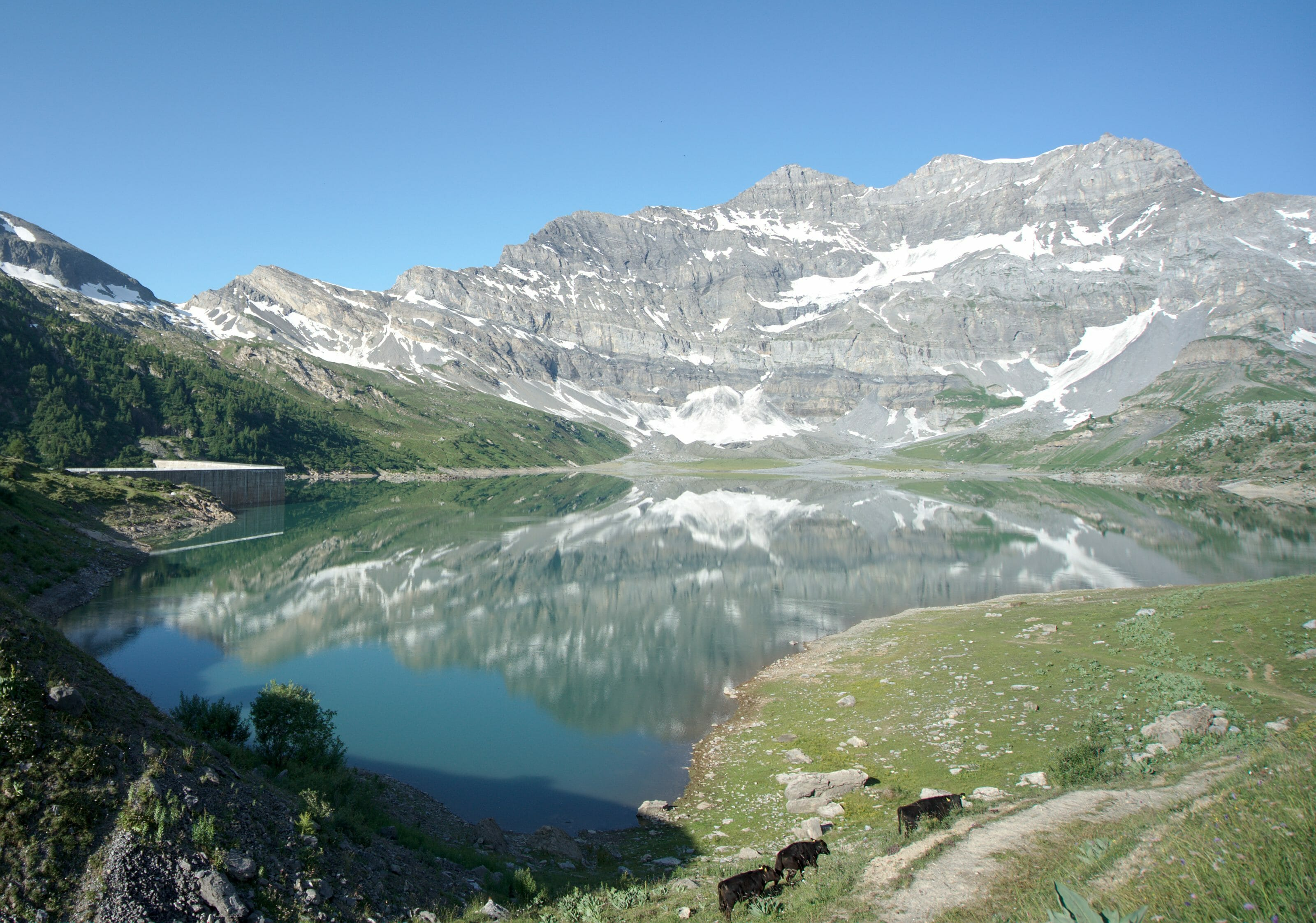 salanfe lake in wallis