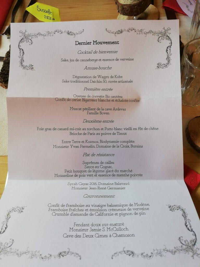 menu gastronomique susanfe