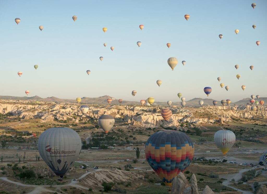 montgolfières Turquie
