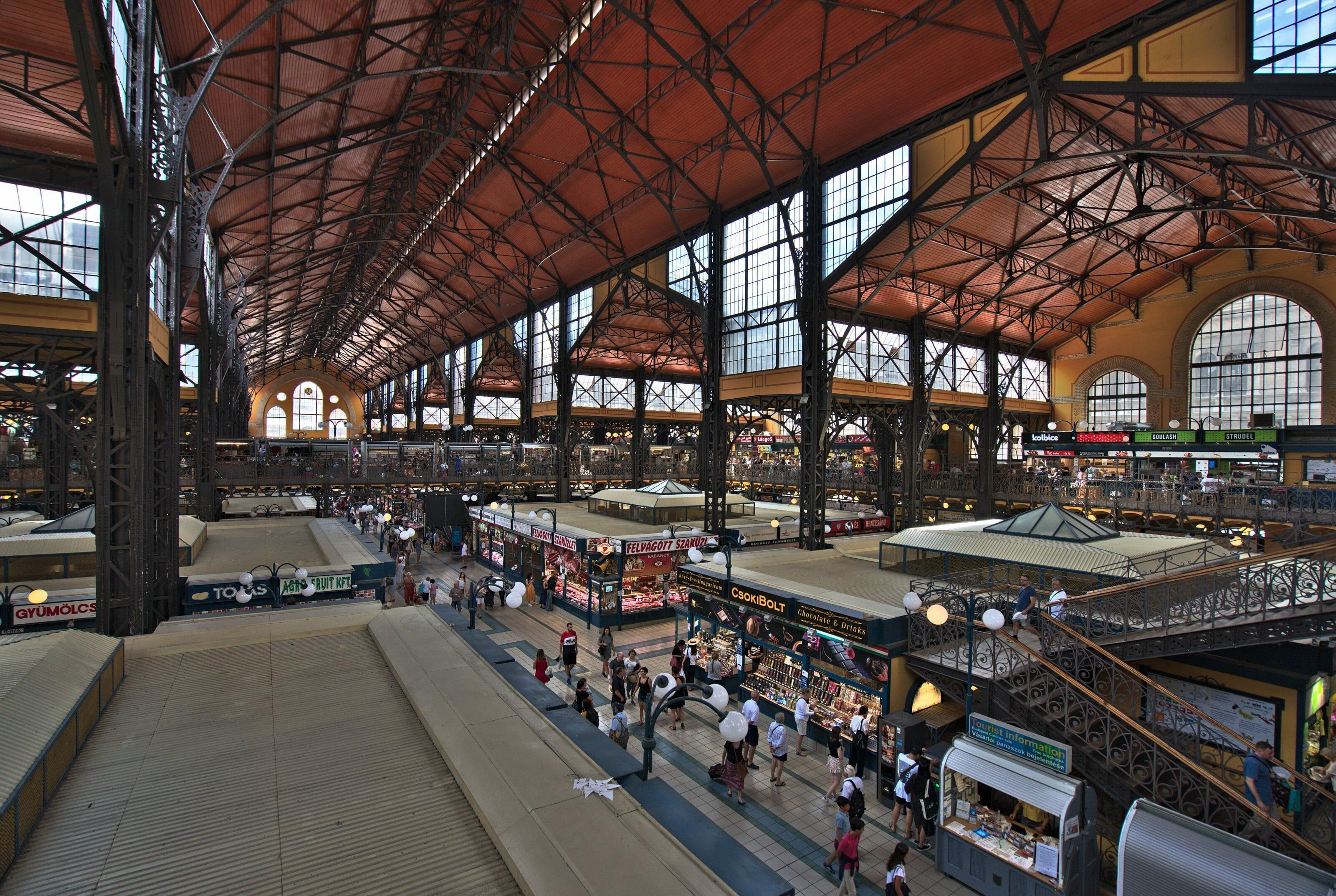 marché couvert de Budapest