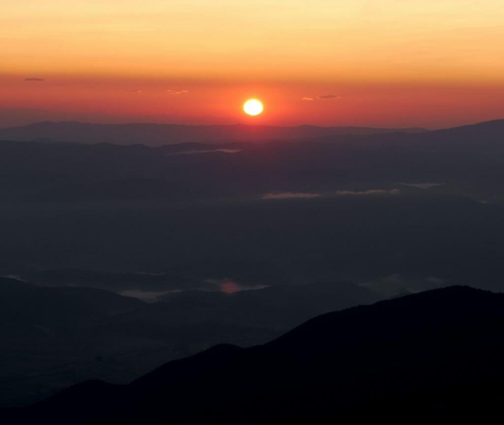 sunrise vihren bulgaria