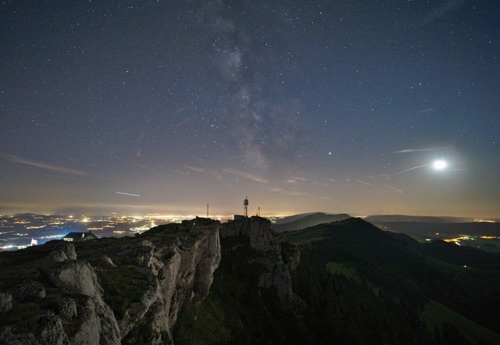 photo de nuit, chasseron