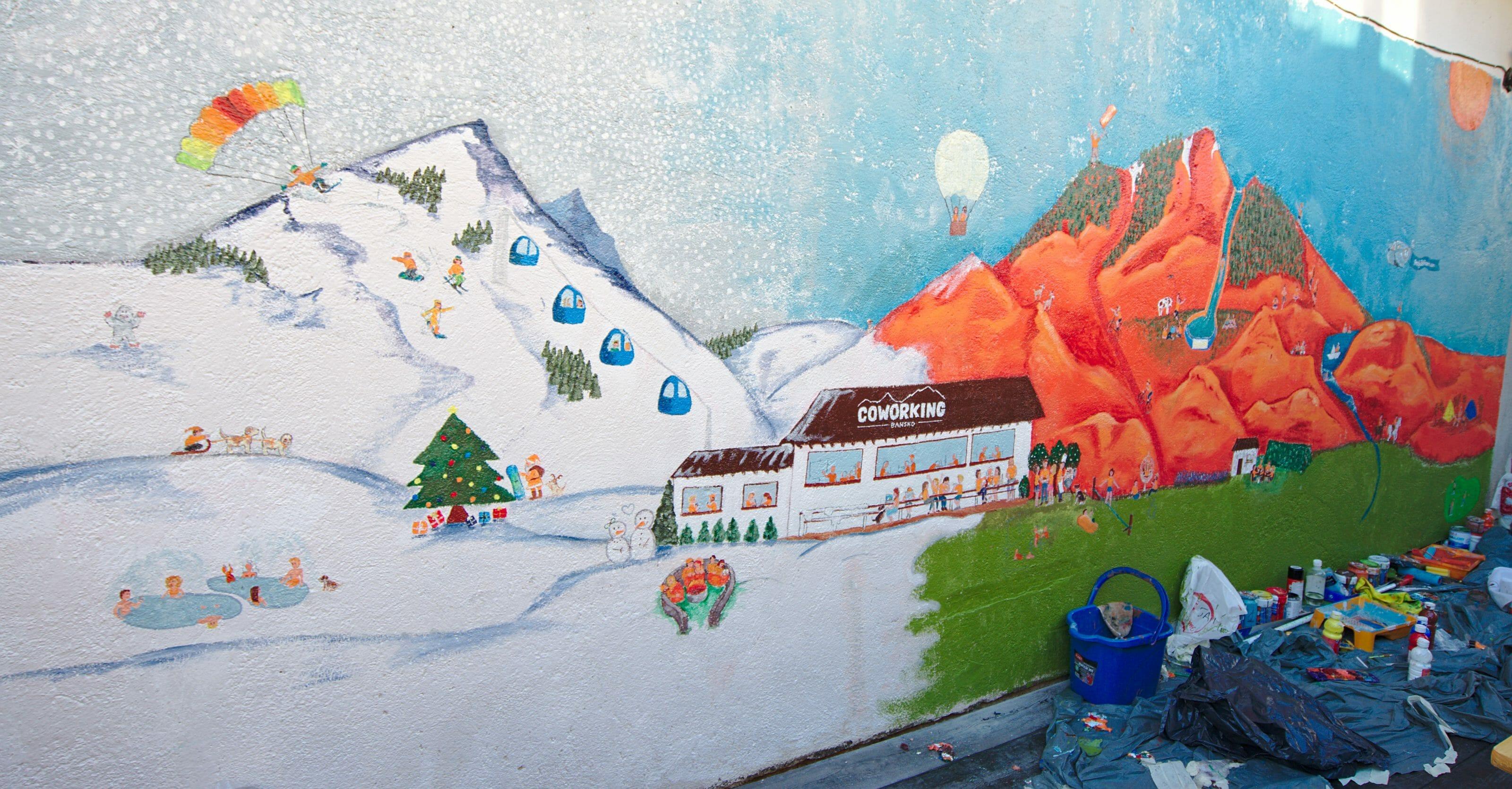 grafiti du coworking bansko