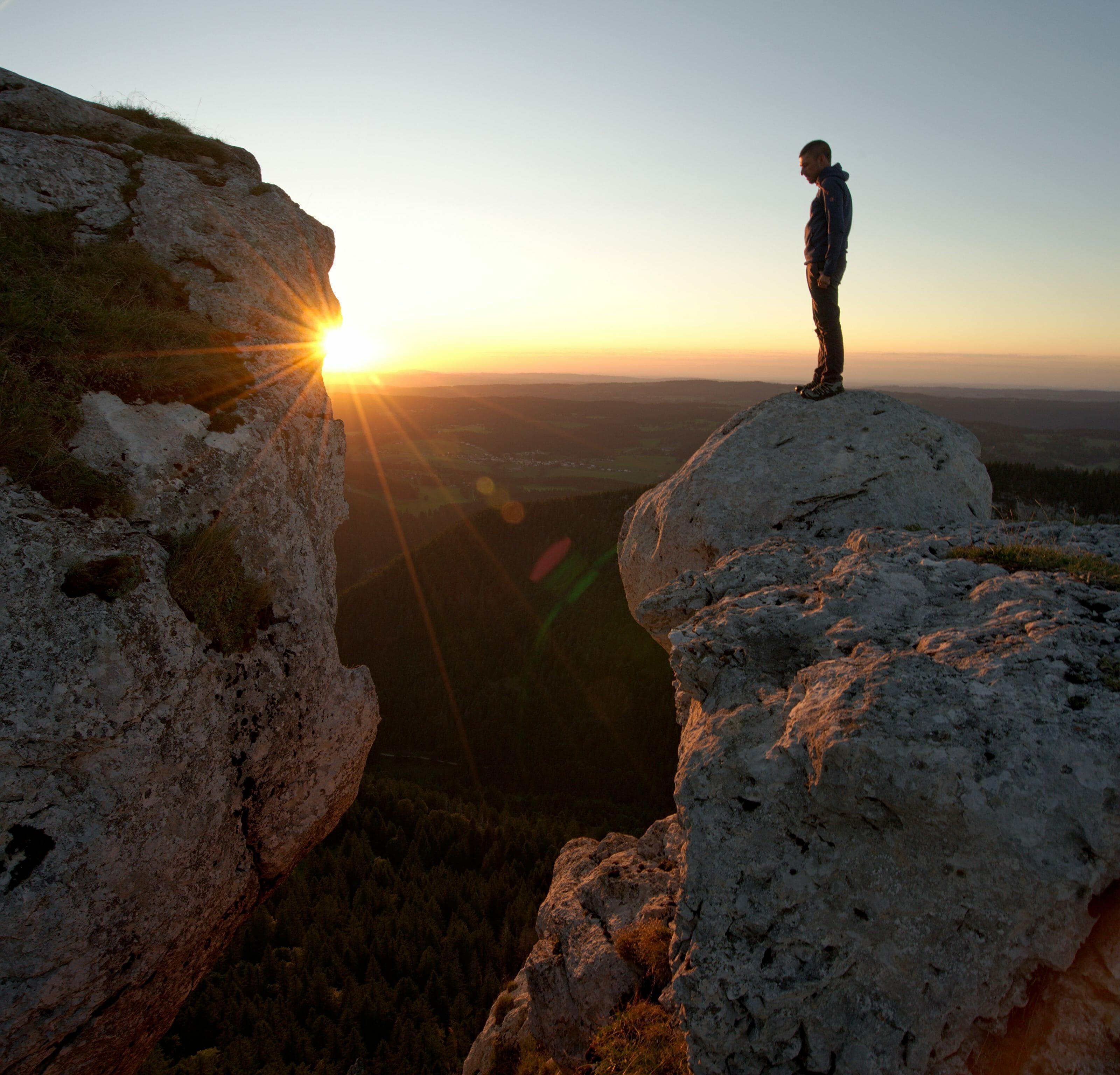 coucher de soleil, chasseron