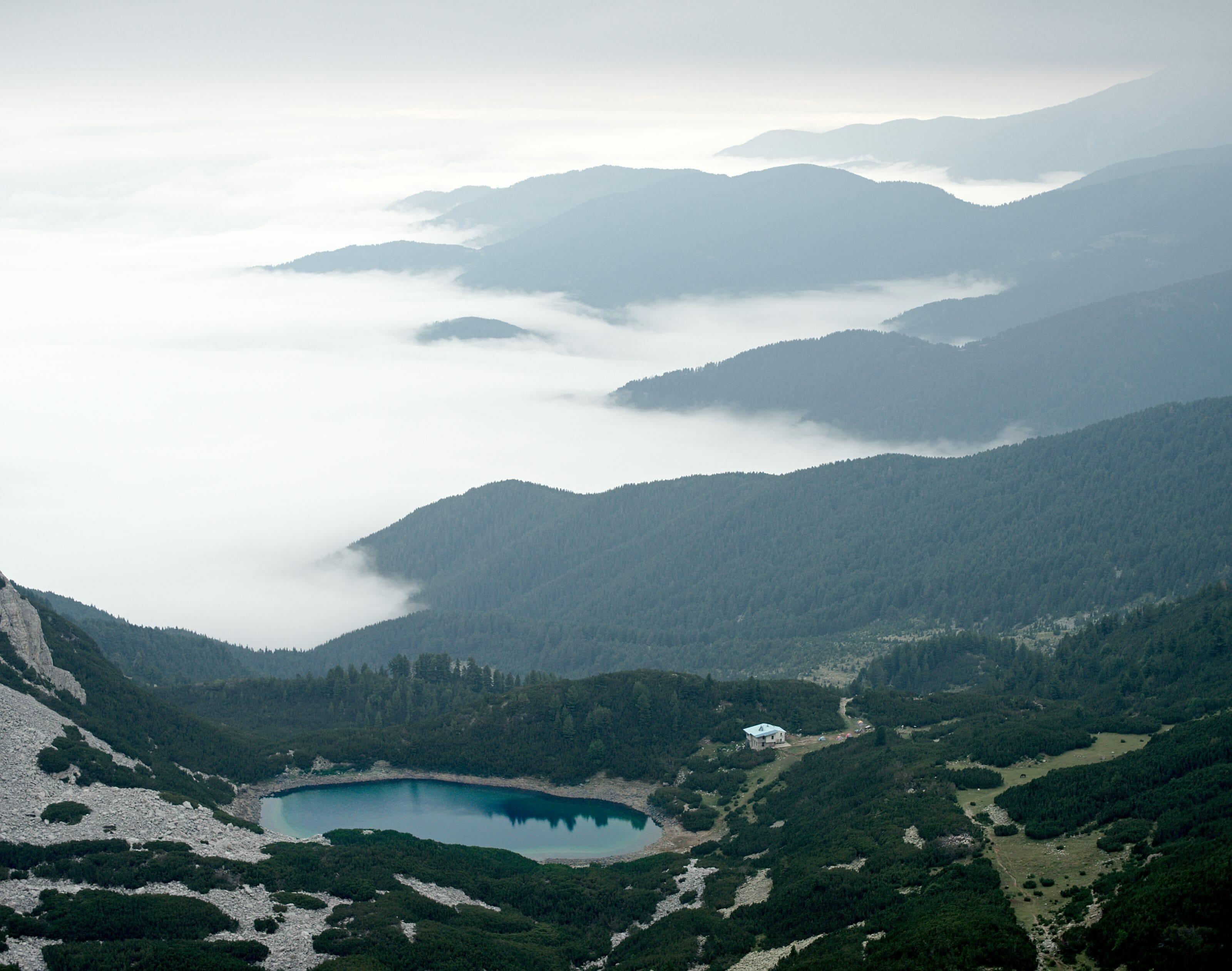 mer de nuage en montagne