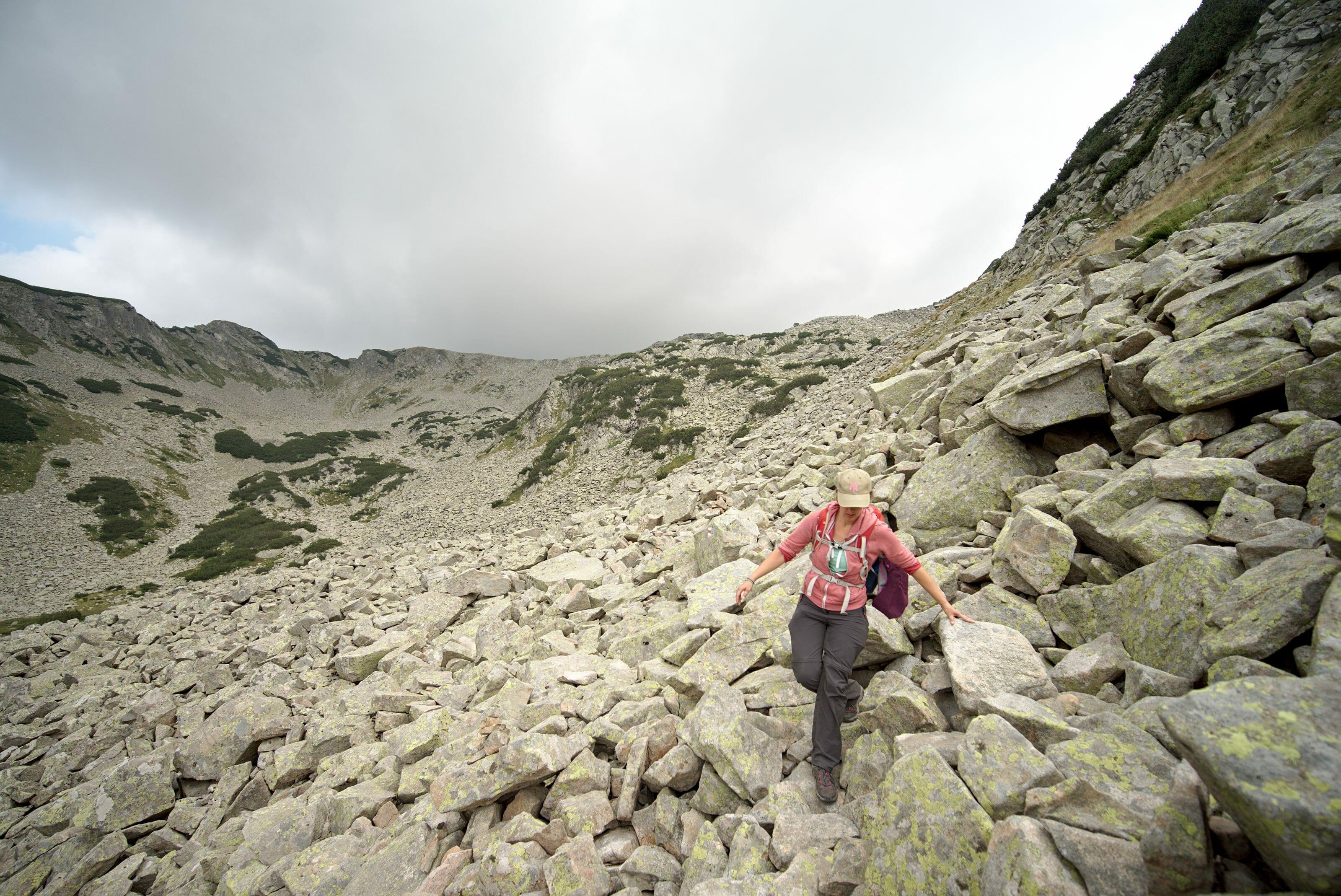 pierrier en randonnée