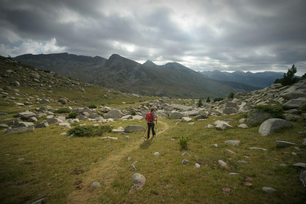 sentier de randonnée dans le pirin