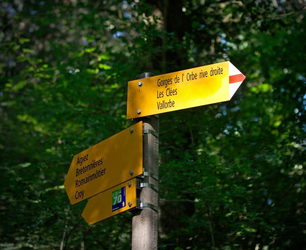 panneaux rando jaunes