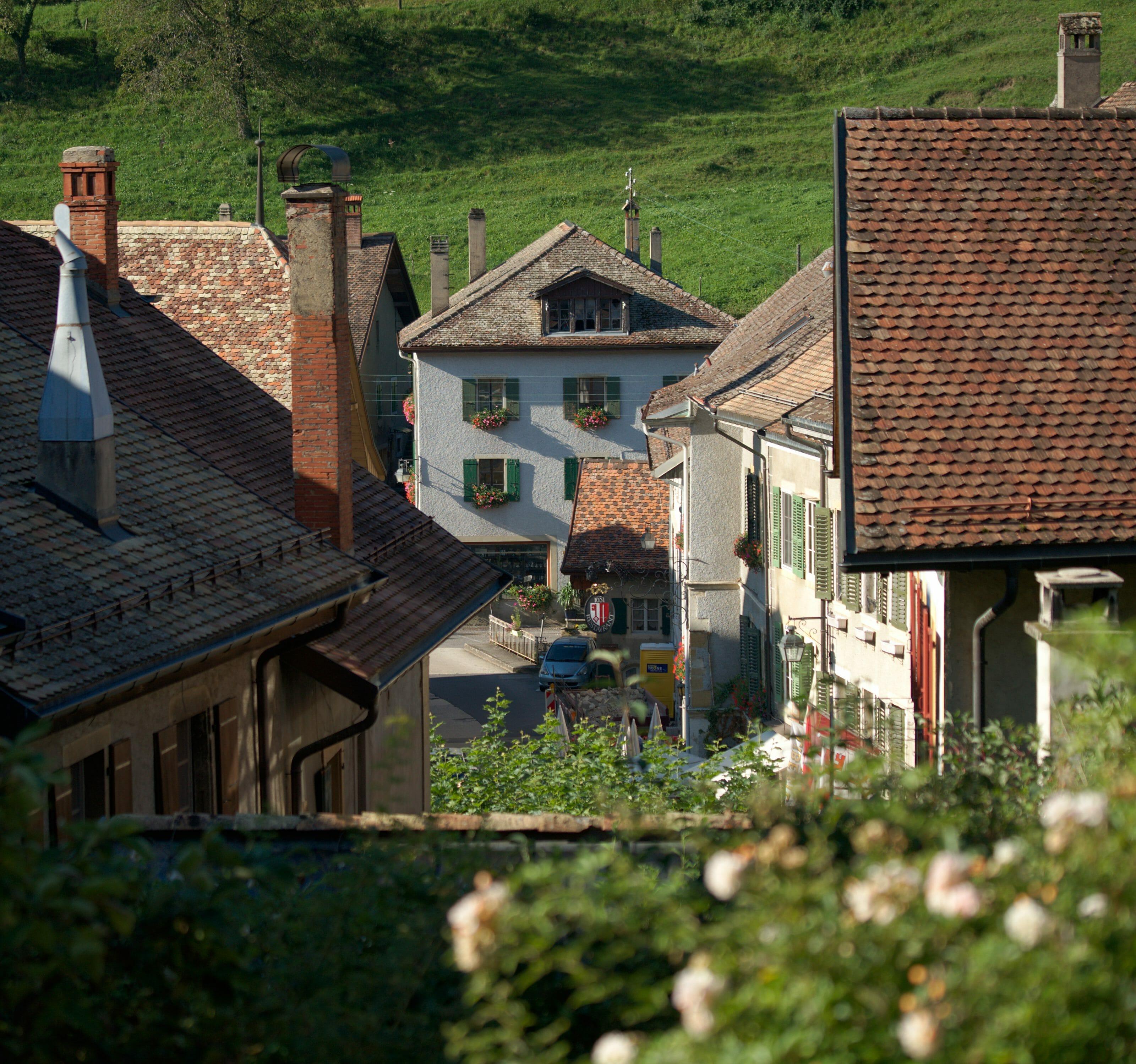 centre du village de romainmotier