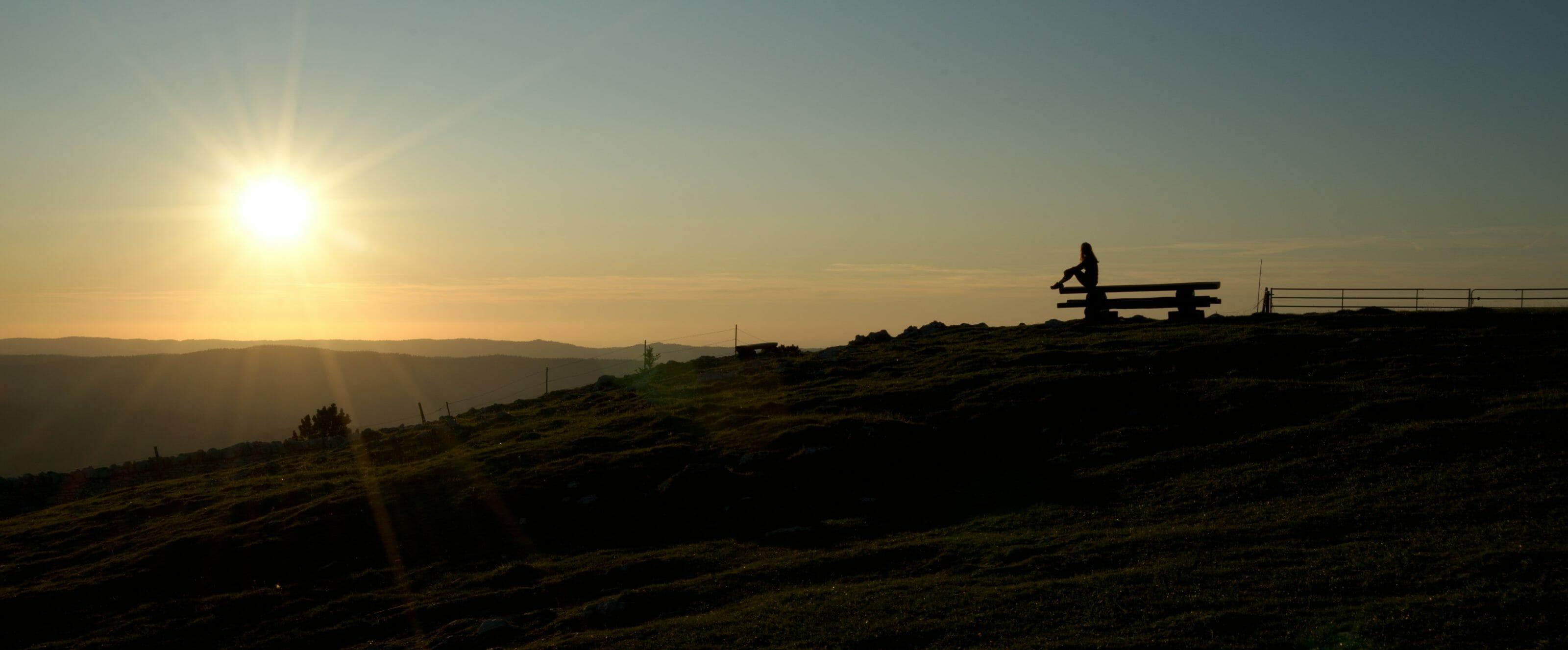 silhouette au coucher du soleil