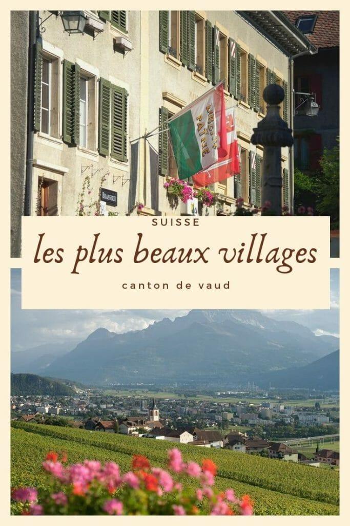villages du canton de vaud