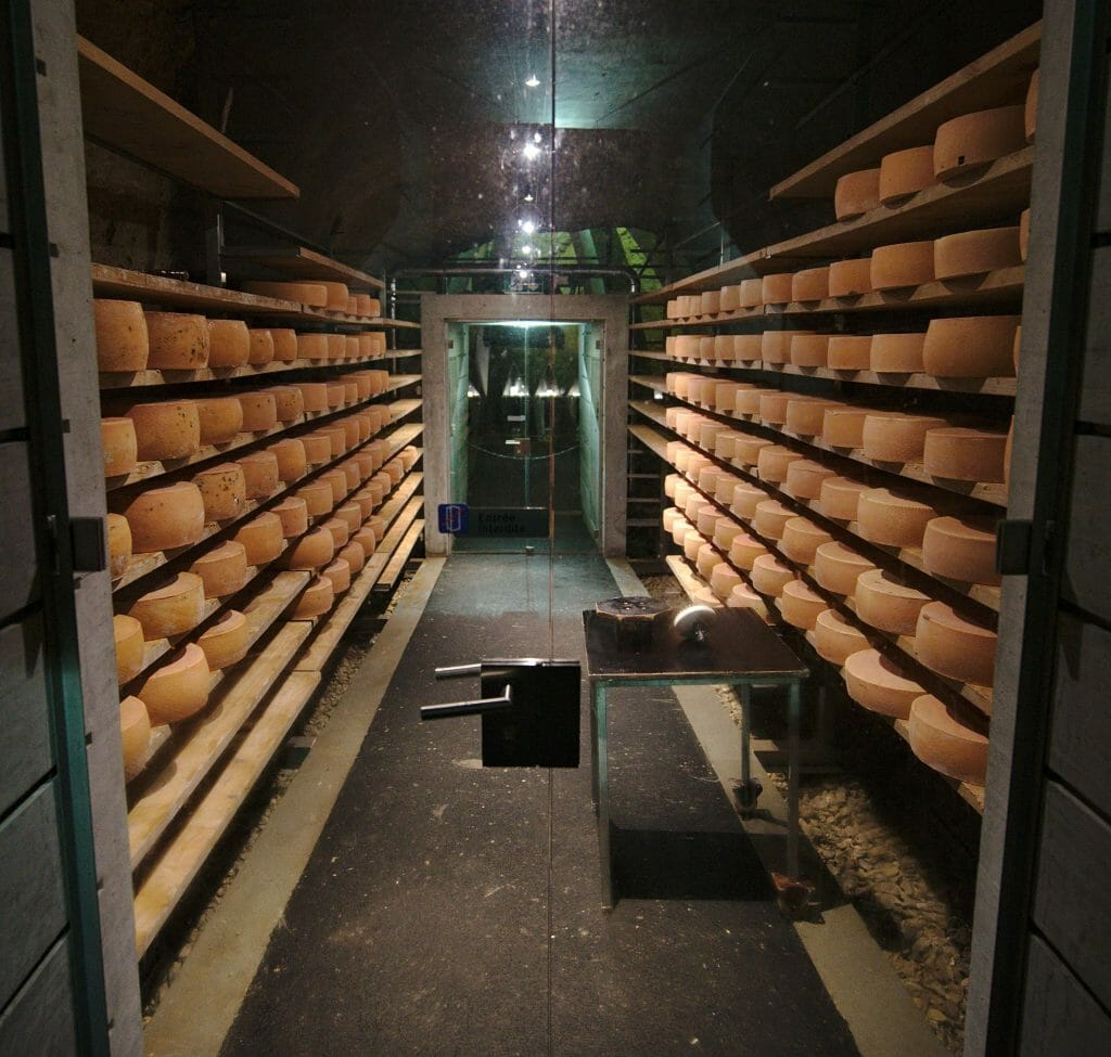 fromage affiné en grotte