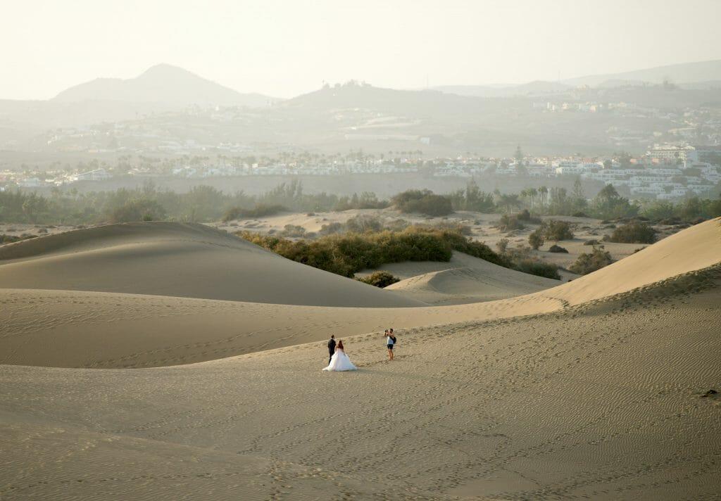 mariés dans les dunes