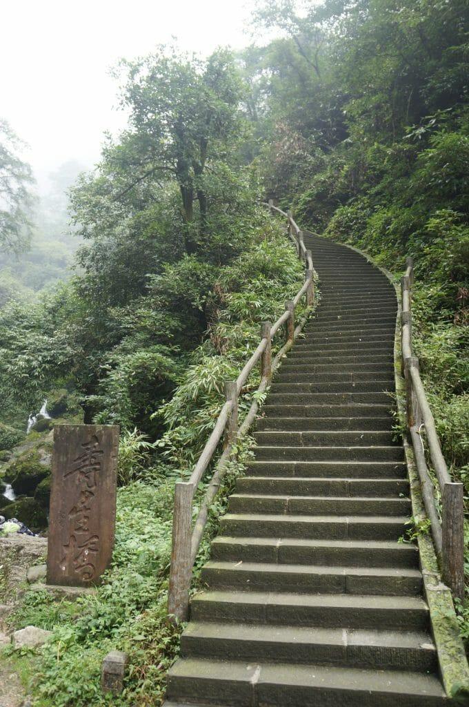 escaliers mont emei