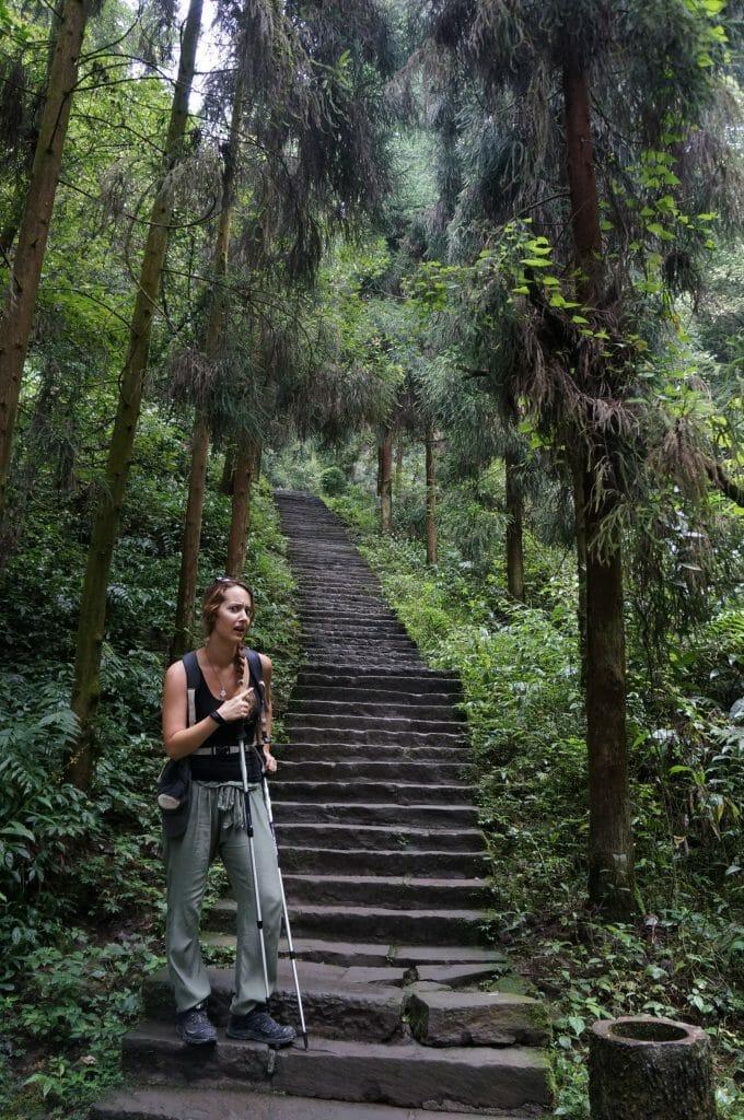 escaliers mon emei