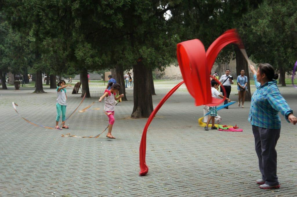 parc public en chine, ruban
