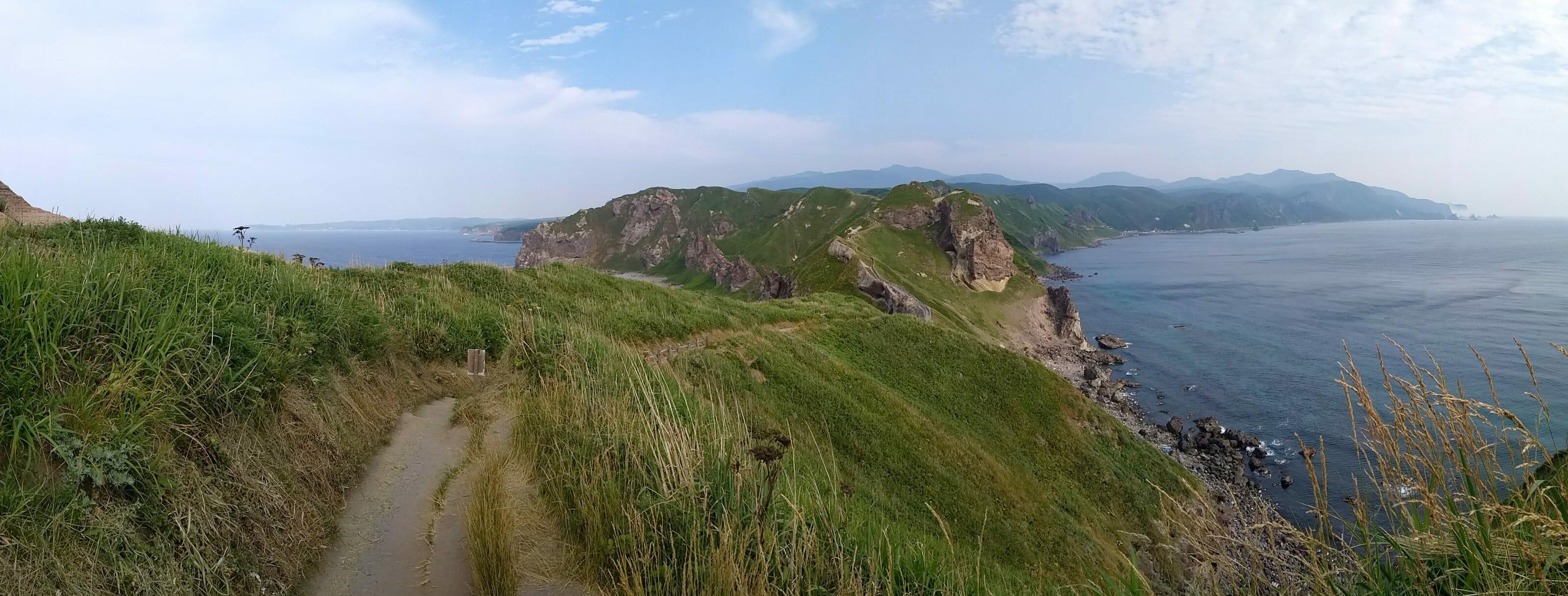 les montagnes du Japon autour d'Hokkaido