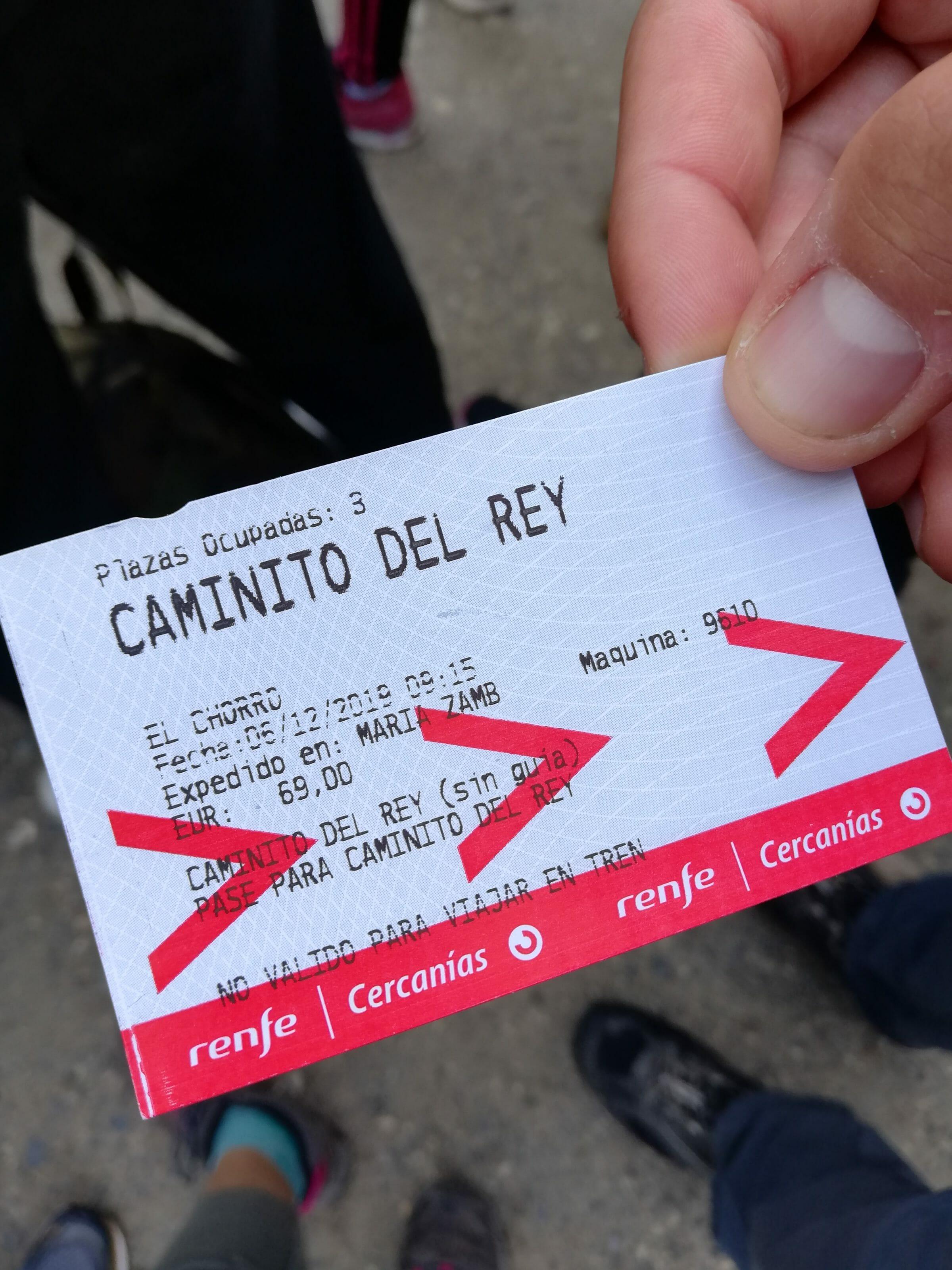 ticket entrée caminto del rey
