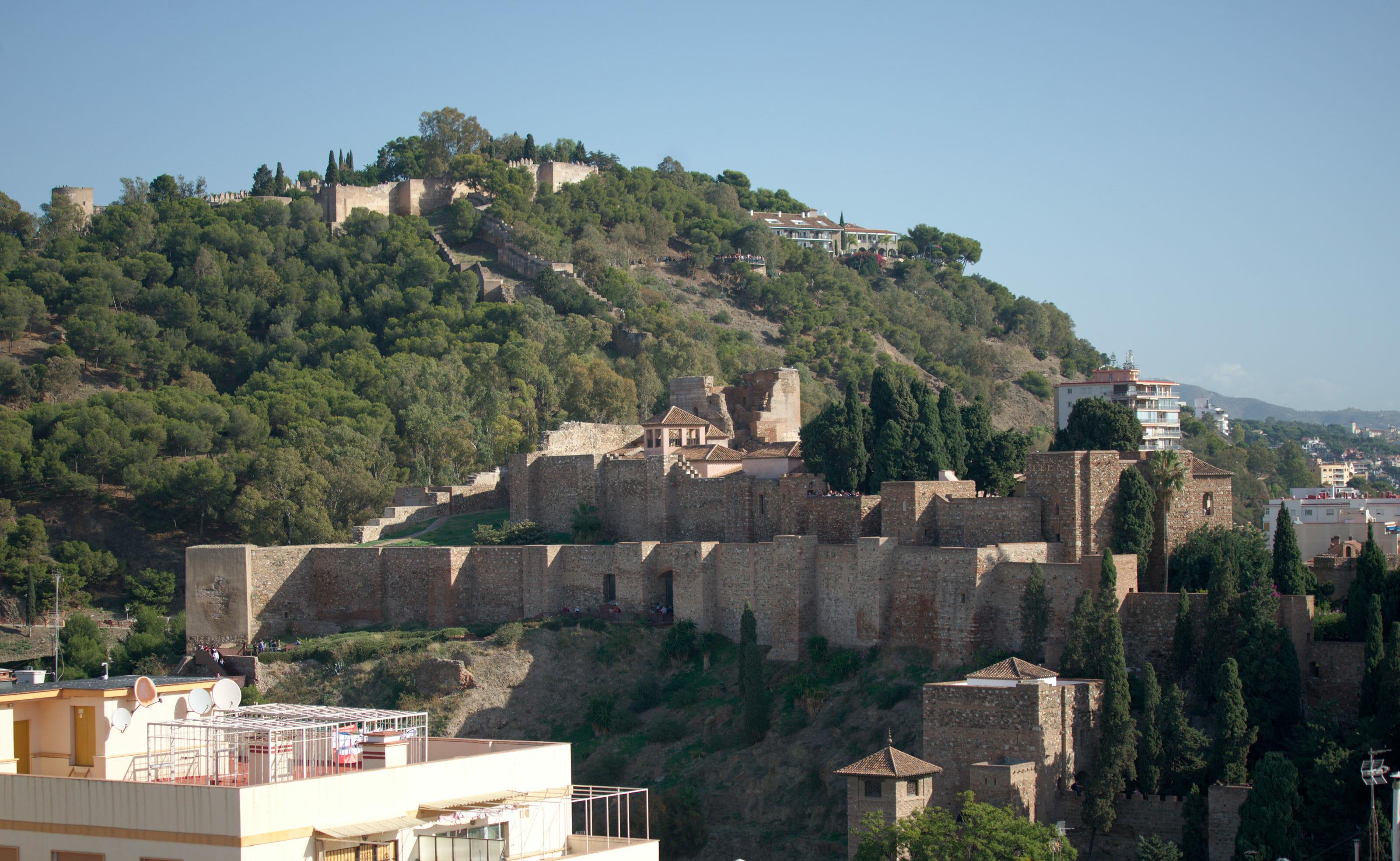 the Alcazaba citadel and Gibralfaro Castle in Malaga