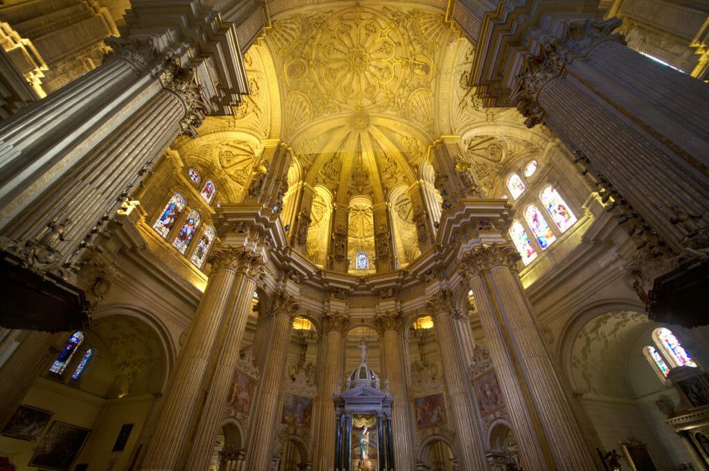 intérieur de la cathédrale de Malaga