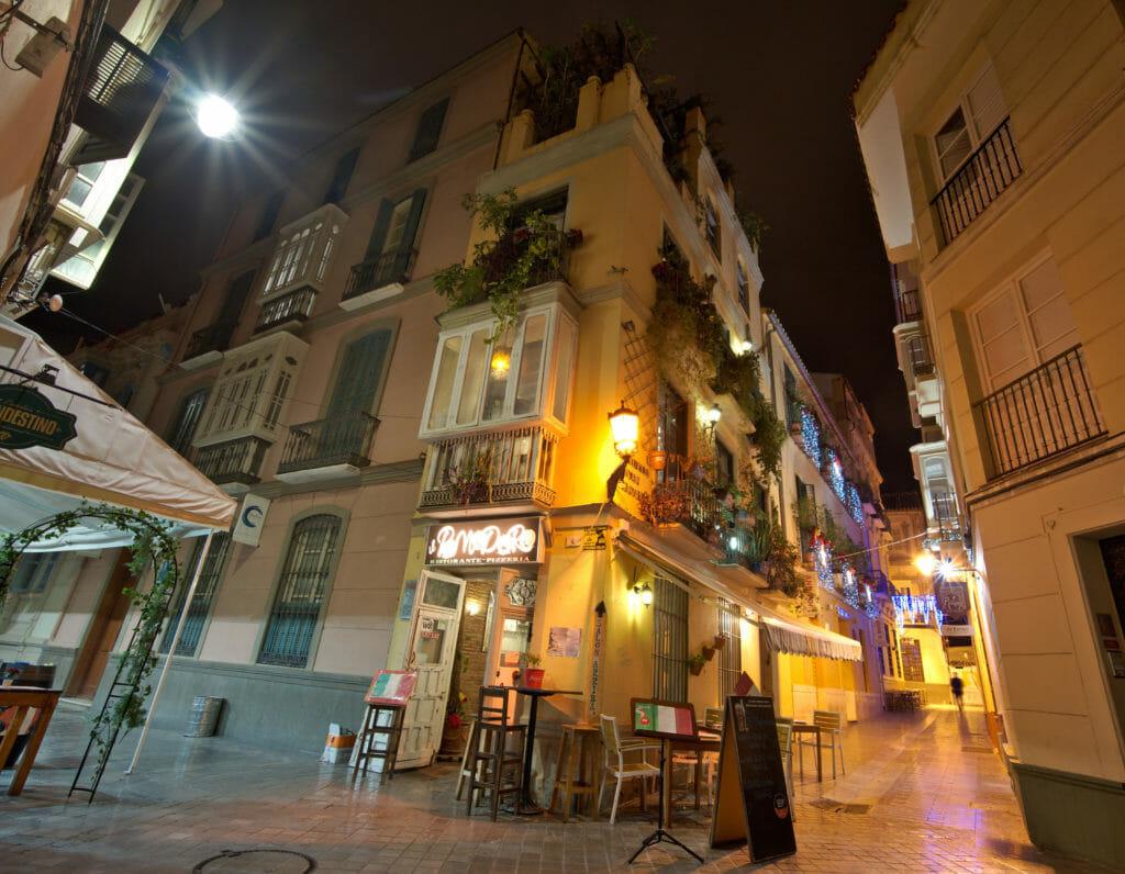 ruelle de Malaga de nuit