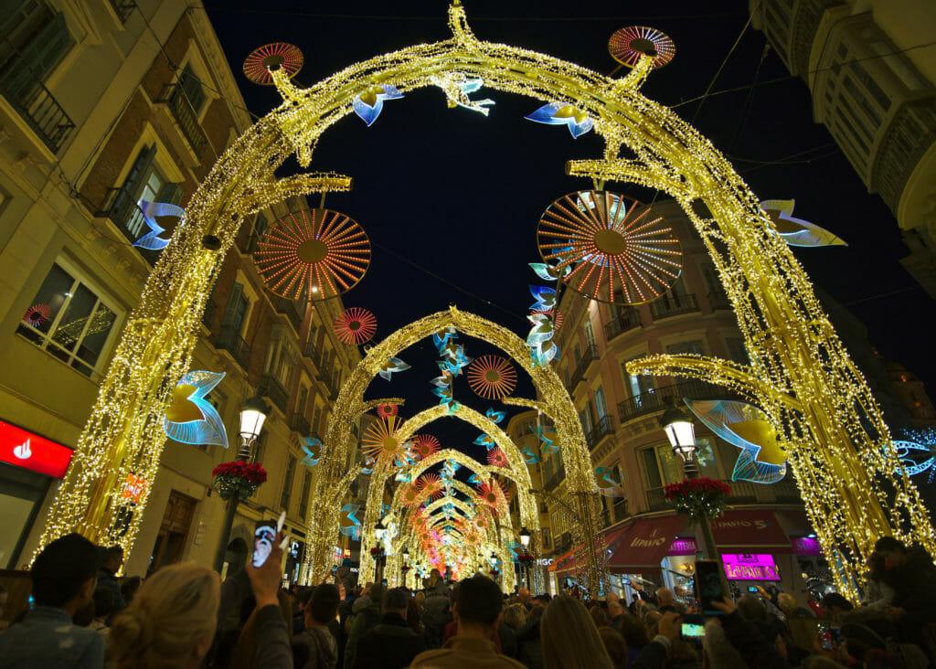 Malaga et ses folles décorations de Noël