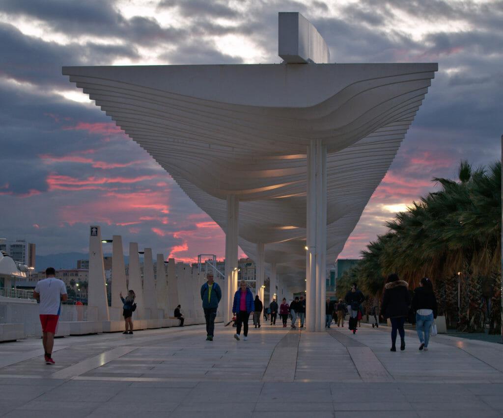 l'architecture du Muelleuno à Malaga