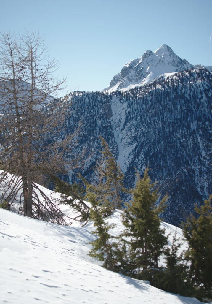 paysages hiver à Cervieres