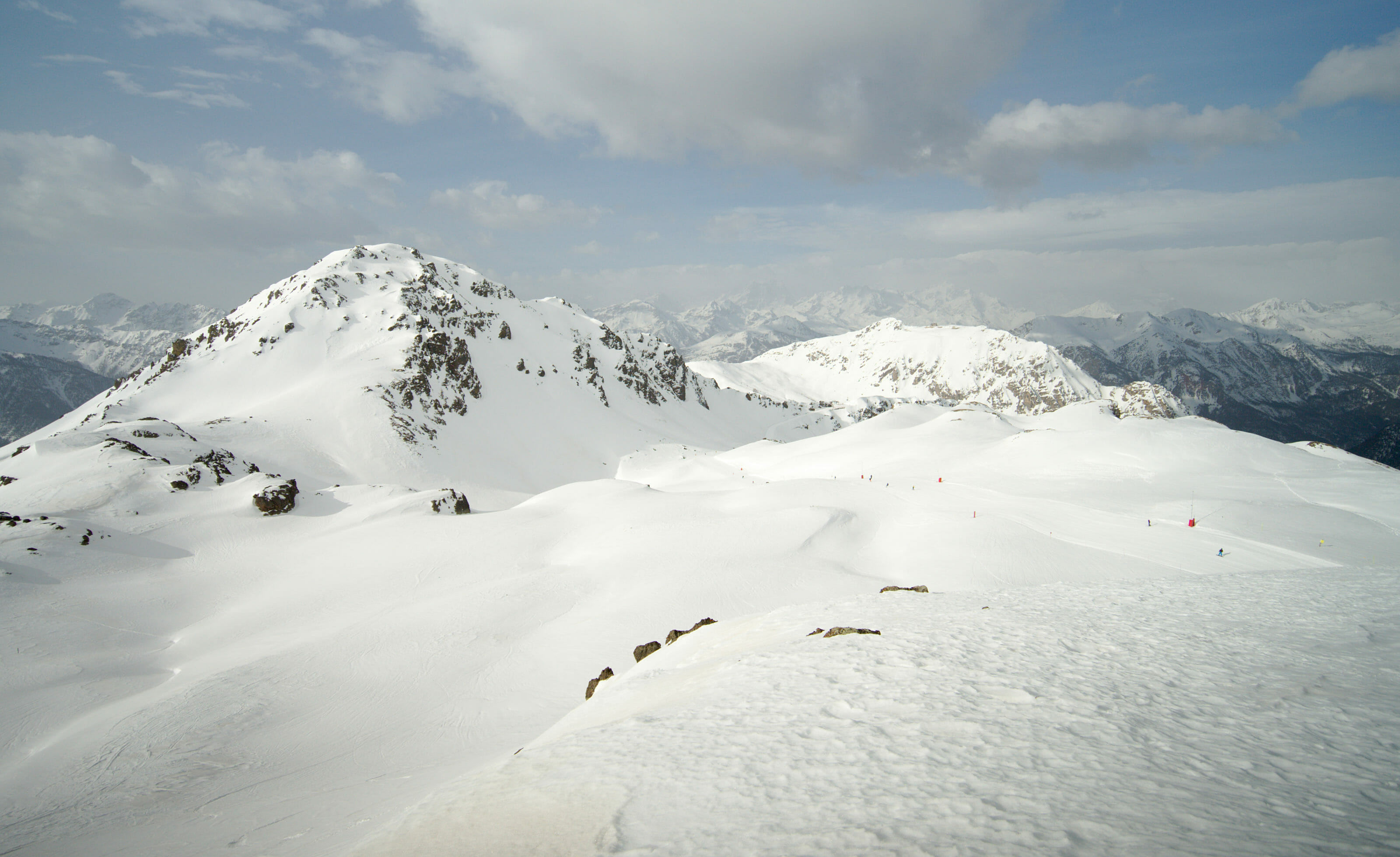 skiing in the french alps