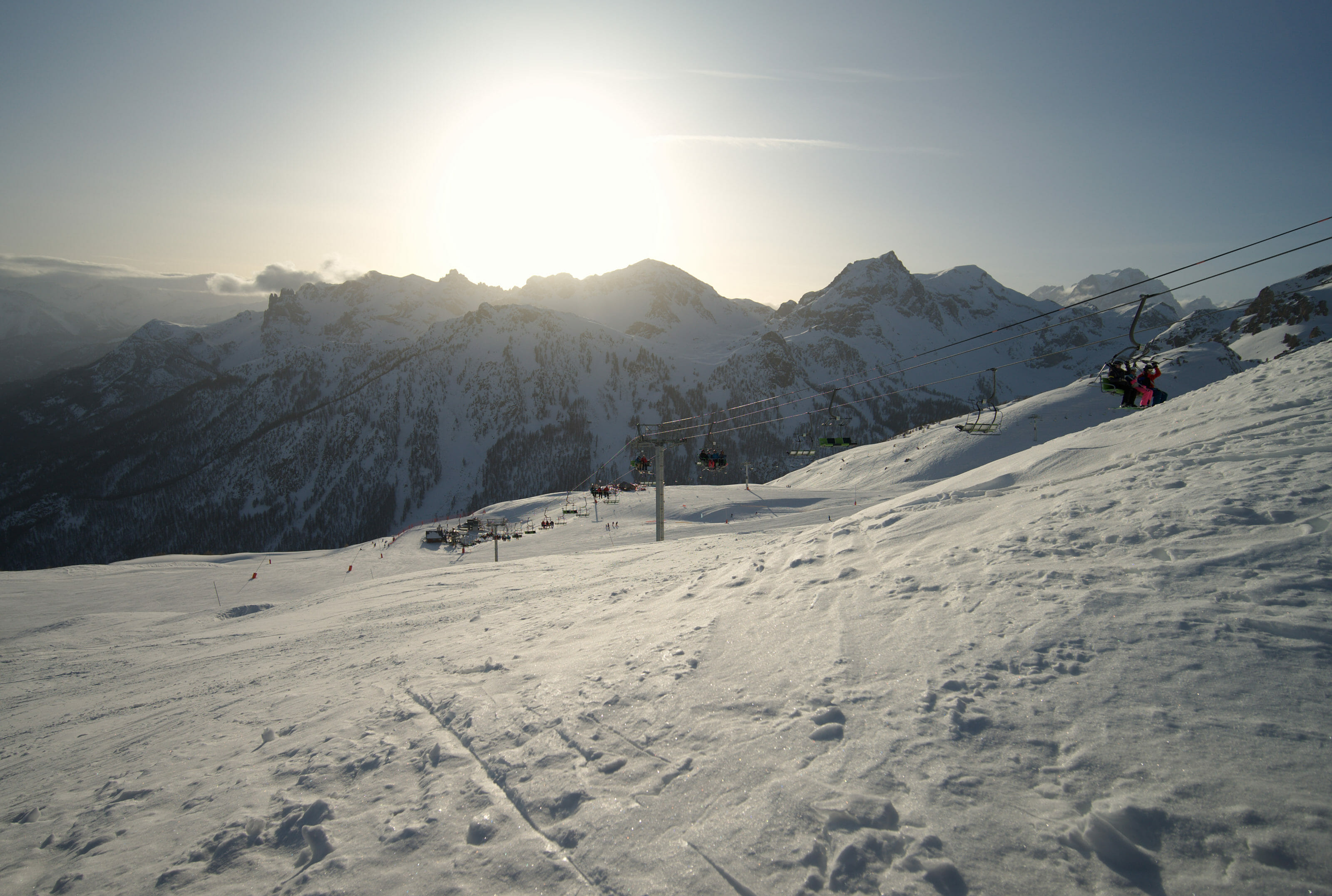 end of the day on the slopes