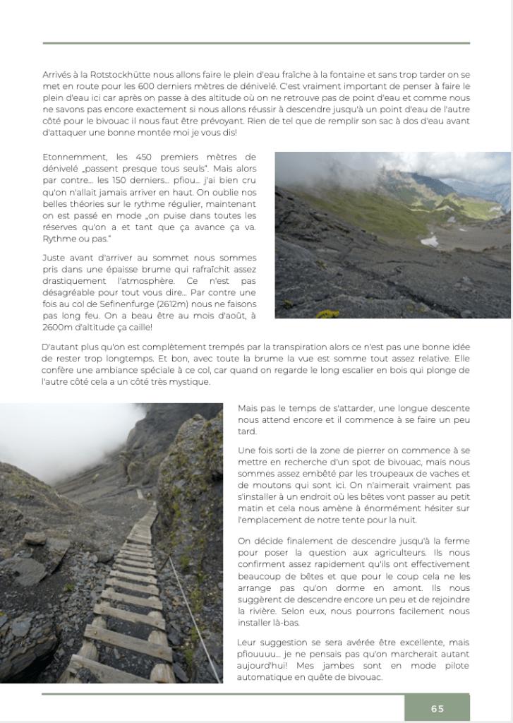 sentiers de la via alpina