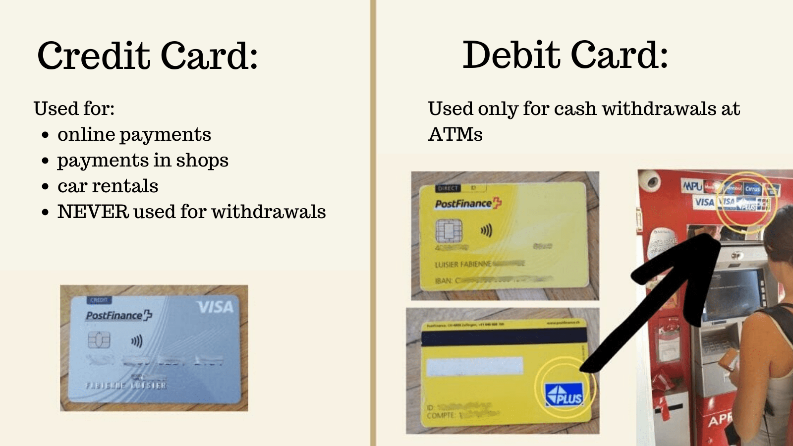 credit card swiss travellers