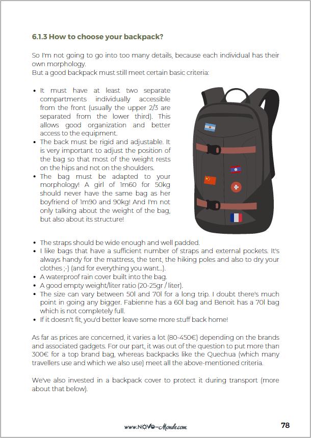 choose a backpack