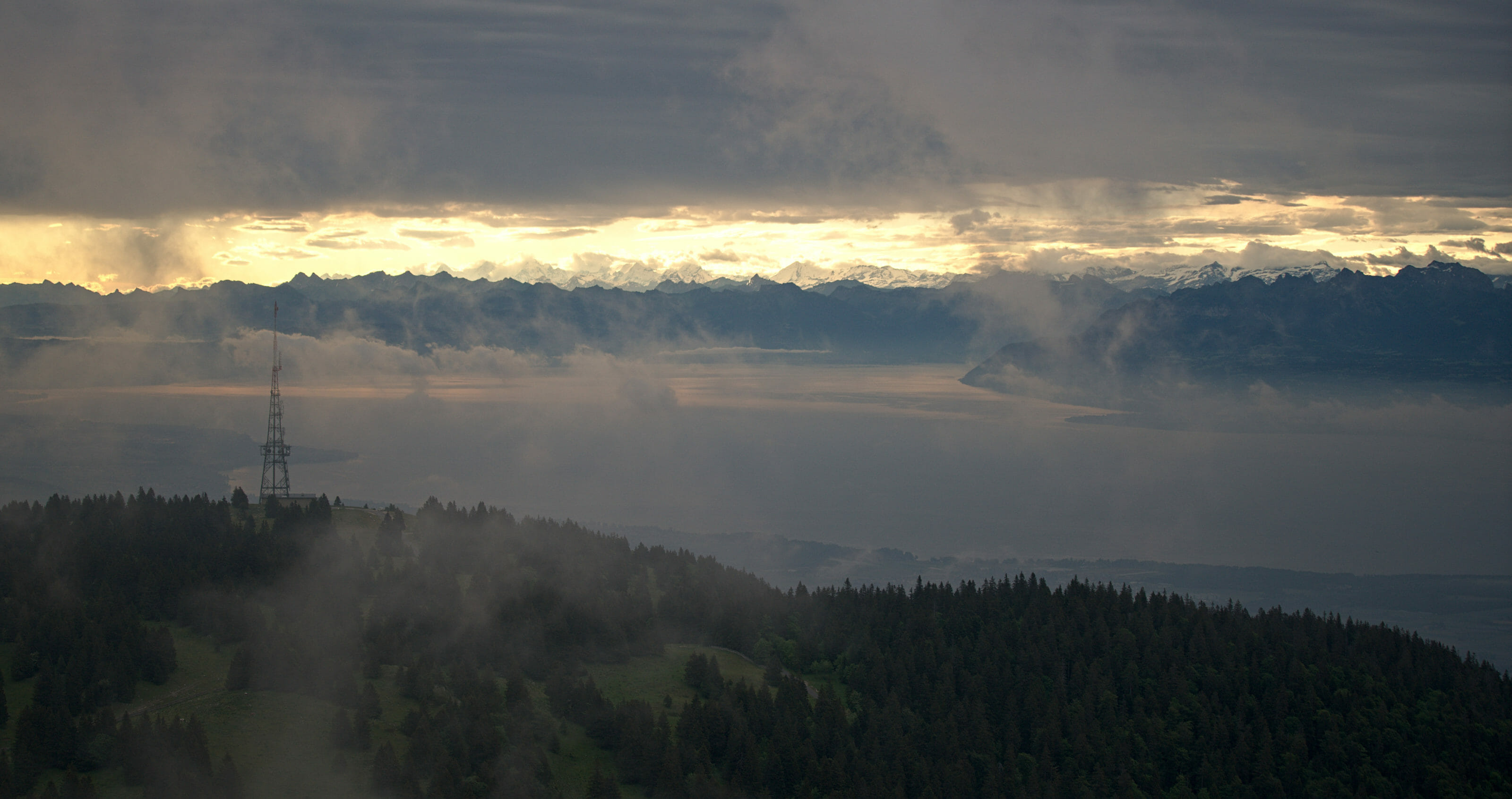 brume sur le Léman