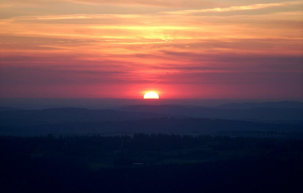 coucher de soleil chasseral