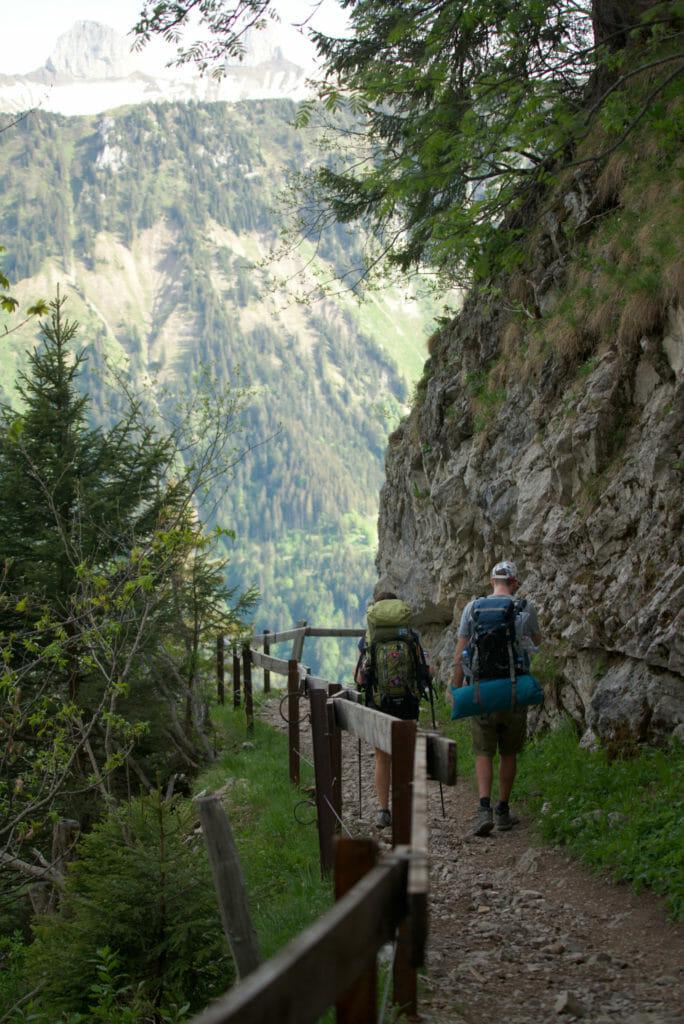 descente du rocher-de-naye