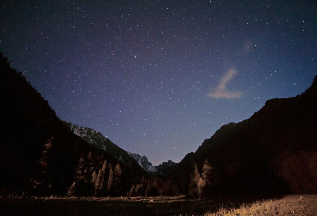 nuit étoilée alpes