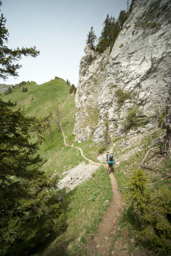 montée rocher-de-naye