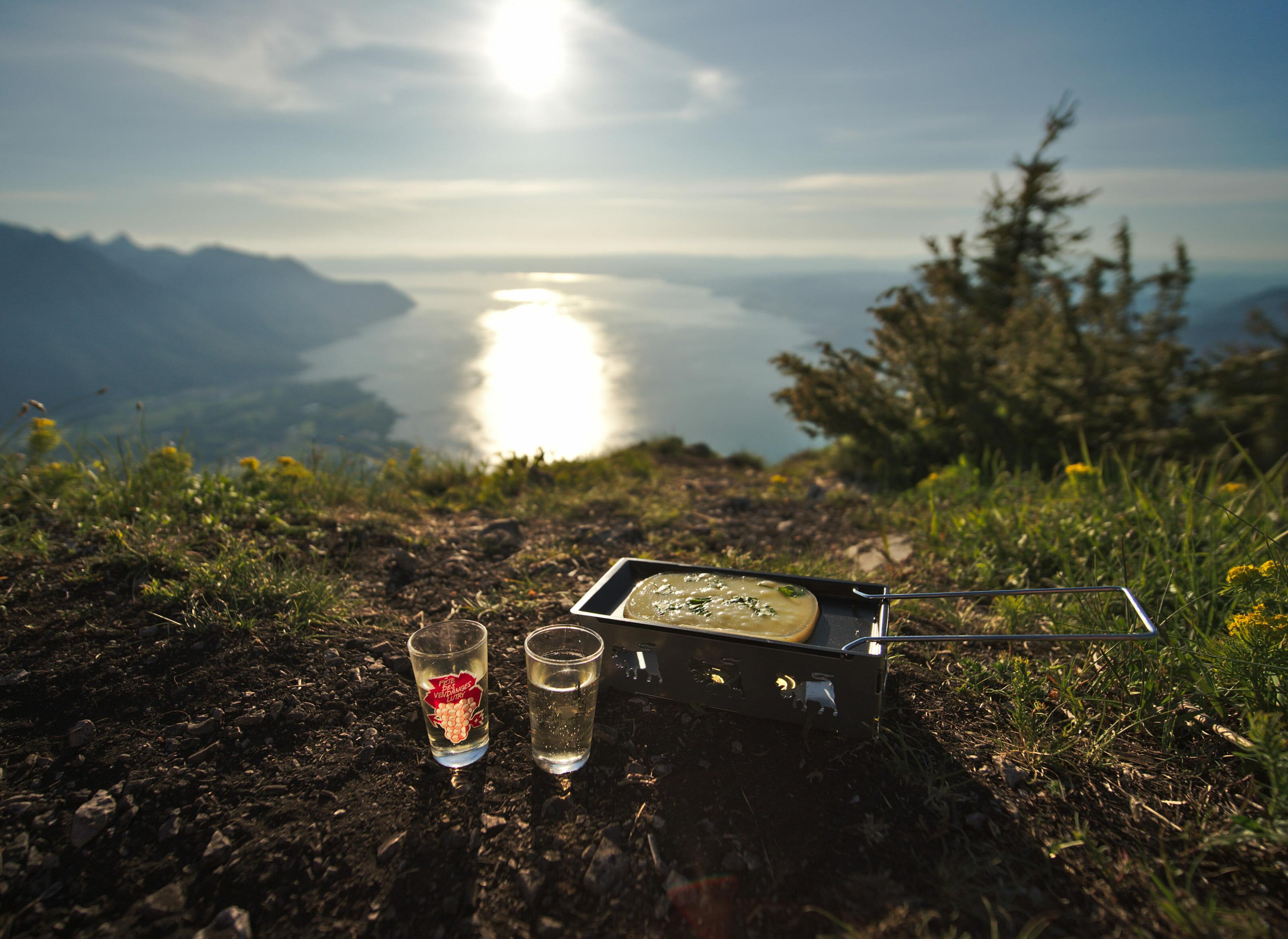 raclette vin blanc en randonnée